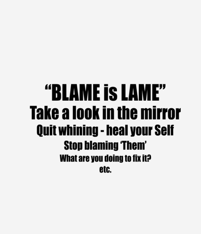 Blame is lame